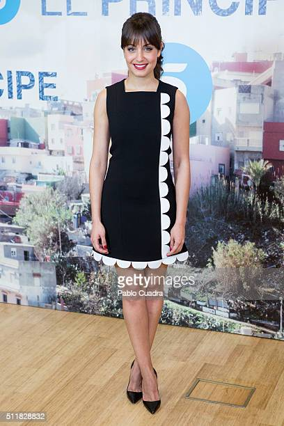 Actress Hiba Abouk presents 'El Principe' at Mediaset Studios on February 23 2016 in Madrid Spain