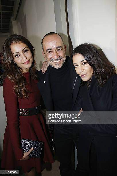 Actress Hiba Abouk Saif Mahdhi and Actress Leila Bekhti attend the Azzedine Alaia Fashion Show at Azzedine Alaia Gallery on October 23 2016 in Paris...