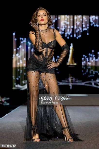 Actress Hiba Abouk walks the runway at the Andres Sarda show during the MercedesBenz Fashion Week Madrid Spring/Summer 2018 at Ifema on September 15...