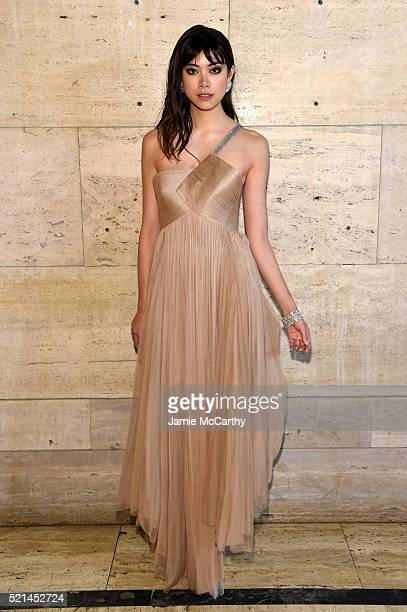 Actress Hikari Mori attends the Tiffany Co Blue Book Gala at The Cunard Building on April 15 2016 in New York City