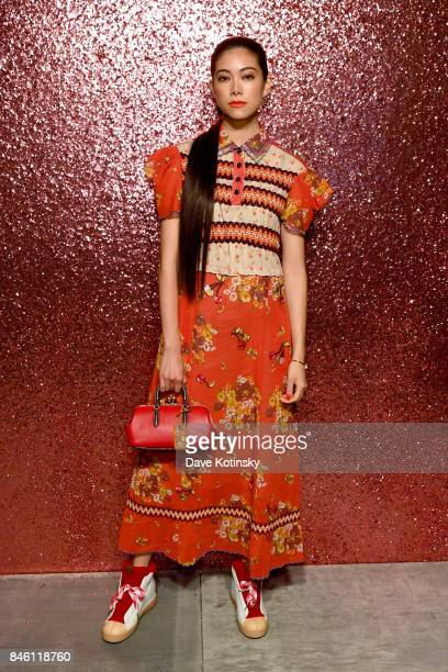 Actress Hikari Mori poses for a portrait during Coach Spring 2018 Fashion Show during New York Fashion Week at Basketball City Pier 36 South Street...