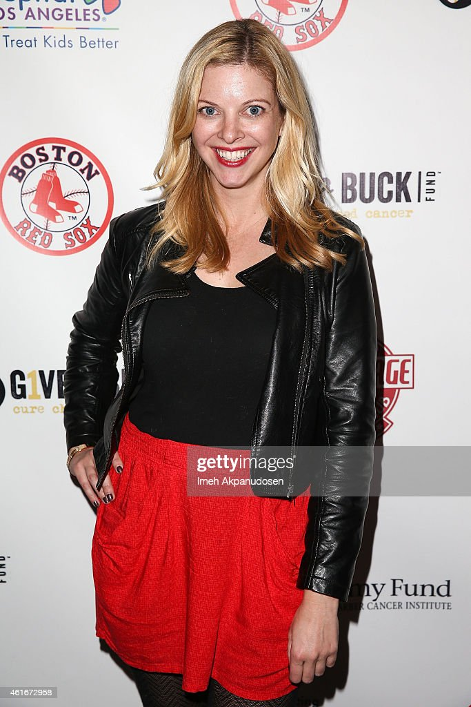 Red Sox Charity Event At The Garage On Motor In Culver City To Benefit The Jimmy Fund, Children's Hospital LA's Cancer Researchers & G1VE A BUCK Fund : News Photo