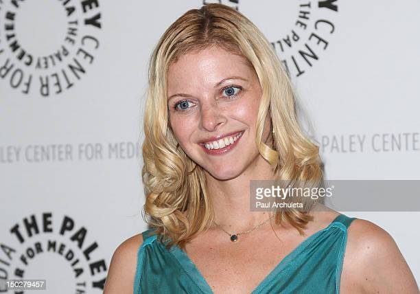 Actress Hilary Barraford attends the first panel event for the online series Husbands at The Paley Center for Media on August 13 2012 in Beverly...