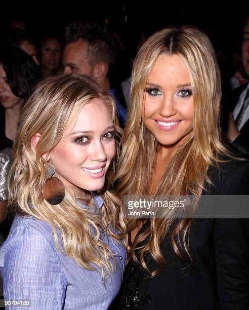 Actress Hilary Duff and Actress Amanda Bynes are seen around Bryant Park on September 12 2009 in New York City