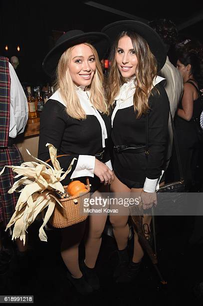 Actress Hilary Duff and guest attend the Casamigos Halloween Party at a private residence on October 28 2016 in Beverly Hills California