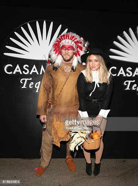 Actress Hilary Duff and Jason Walsh arrive to the Casamigos Halloween Party at a private residence on October 28 2016 in Beverly Hills California
