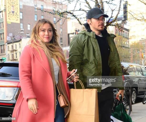 Actress Hilary Duff and Matthew Koma are seen walking in Soho on December 19 2017 in New York City