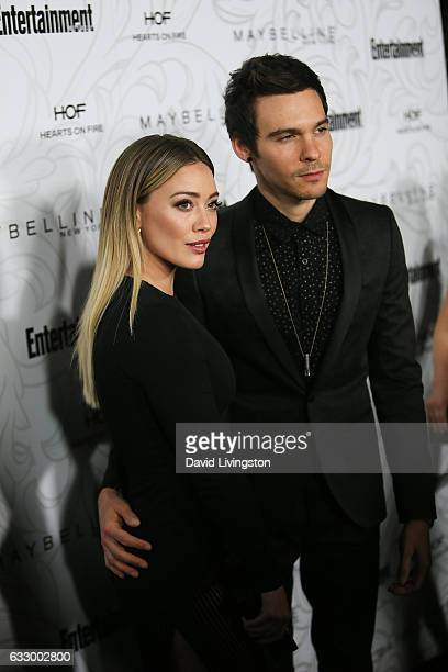 Actress Hilary Duff and musician Matthew Koma arrive at the Entertainment Weekly celebration honoring nominees for The Screen Actors Guild Awards at...