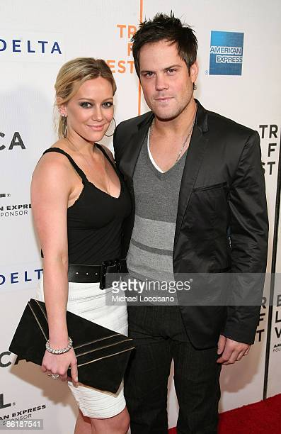 Actress Hilary Duff and NHL player Mike Comrie attend the premiere of 'Stay Cool' during the 2009 Tribeca Film Festival at BMCC Tribeca Performing...