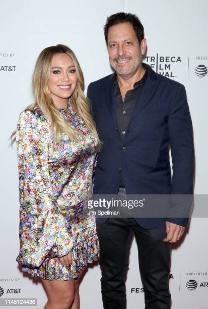 Actress Hilary Duff and producer Darren Star attend the Tribeca TV screening of Younger during the 2019 Tribeca Film Festival at Spring Studios on...