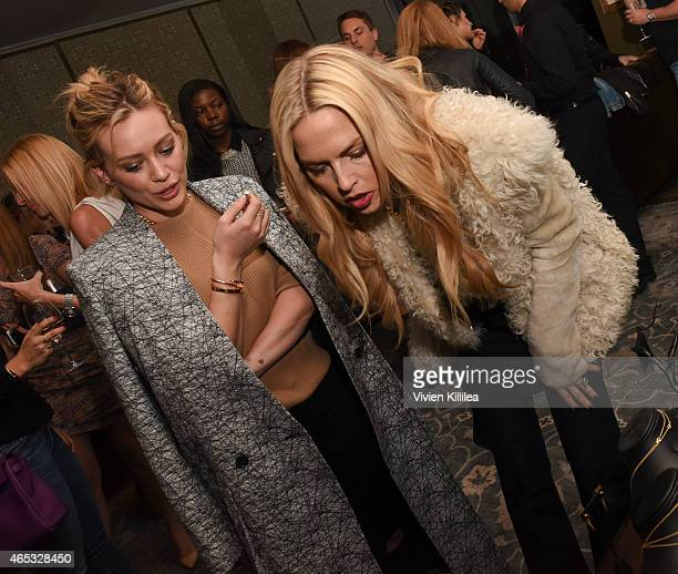 Actress Hilary Duff and stylist Rachel Zoe attend the Established Jewelry By Nikki Erwin Launch Party Hosted By Erin Sara Foster on March 5 2015 in...