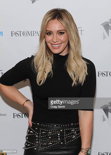 "Actress Hilary Duff appears during ""Inside TV Land's Hit Show ""Younger"" With TV Icon Darren Starr, Patricia Field And Debi Mazar"" at The Fast Company..."