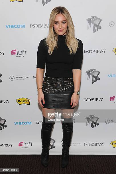 Actress Hilary Duff appears during 'Inside TV Land's Hit Show 'Younger' With TV Icon Darren Starr Patricia Field And Debi Mazar' at The Fast Company...