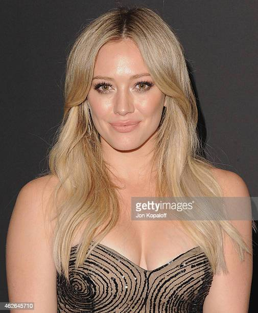 Actress Hilary Duff arrives at the 16th Annual Warner Bros. And InStyle Post-Golden Globe Party at The Beverly Hilton Hotel on January 11, 2015 in...