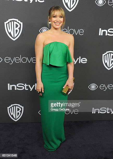 Actress Hilary Duff arrives at the 18th Annual PostGolden Globes Party hosted by Warner Bros Pictures and InStyle at The Beverly Hilton Hotel on...