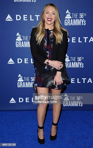 Actress Hilary Duff arrives at the Delta Air Lines 2014 GRAMMY Weekend Private Reception And Performance With Lorde at Soho House on January 23 2014...