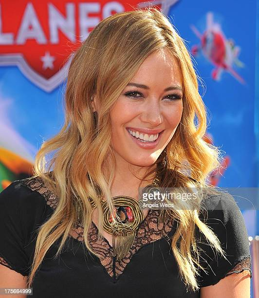 Actress Hilary Duff arrives at the premiere of Disney's 'Planes' presented by Target at the El Capitan Theatre on August 5, 2013 in Hollywood,...