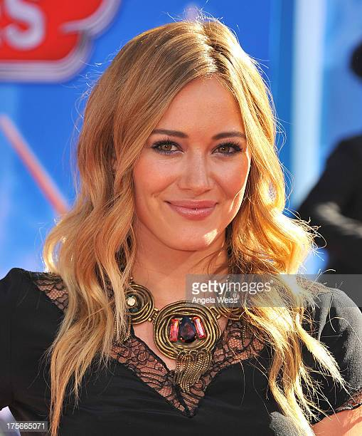 Actress Hilary Duff arrives at the premiere of Disney's 'Planes' presented by Target at the El Capitan Theatre on August 5 2013 in Hollywood...