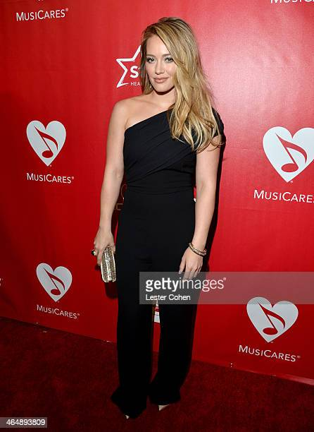 Actress Hilary Duff attends 2014 MusiCares Person Of The Year Honoring Carole King at Los Angeles Convention Center on January 24, 2014 in Los...