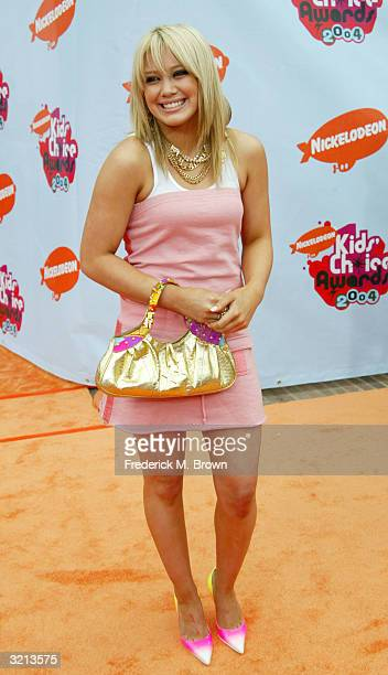 Actress Hilary Duff attends Nickelodeon's 17th Annual Kids' Choice Awards at Pauley Pavilion on the campus of UCLA April 3 2004 in Westwood California