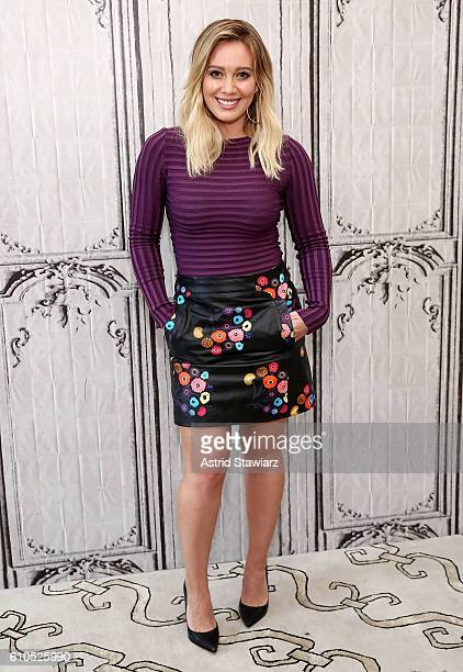 Actress Hilary Duff attends The Build Series Presents The Cast Of 'Younger' at AOL HQ on September 26 2016 in New York City