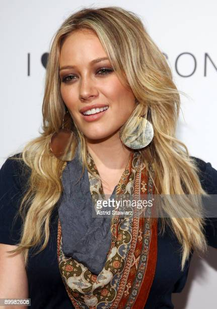Actress Hilary Duff attends the celebration of the I Heart Ronson collection on August 20 2009 in New York City