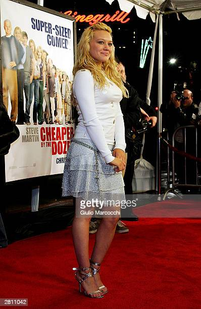Actress Hilary Duff attends the Cheaper By The Dozen Premiere December 14, 2003 in Hollywood, California.