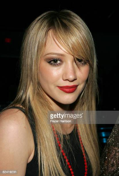 Actress Hilary Duff attends the Play Station Portable Fashion and Technology show at Pret A PSP at the Pacific Design Center on March 14 2005 in West...