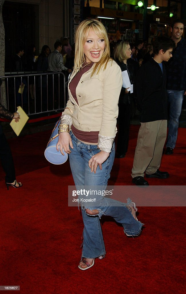 Actress Hilary Duff attends the premiere of 'Bringing Down The House' at the El Capitan Theater on March 2, 2003 in Hollywood, California.