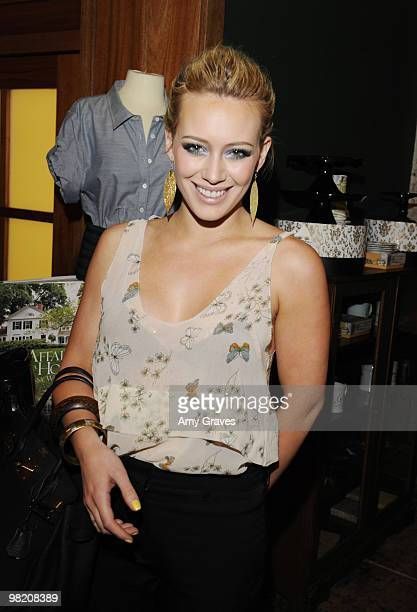 Actress Hilary Duff attends the Shipley Halmos event at Confederacy on March 18 2010 in Los Angeles California
