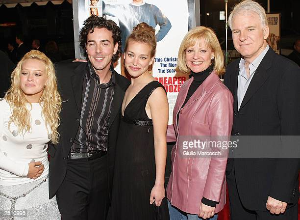Actress Hilary Duff, director Shawn Levy, and actors Piper Perabo, Bonnie Hunt and Steve Martin attend the Cheaper By The Dozen Premiere December 14,...