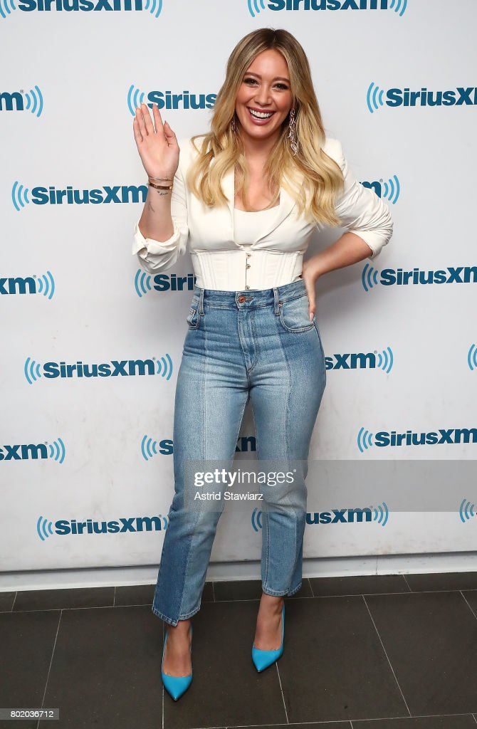 Actress Hilary Duff from the cast of YOUNGER poses for photos before SiriusXM's Town Hall on June 27, 2017 in New York City.