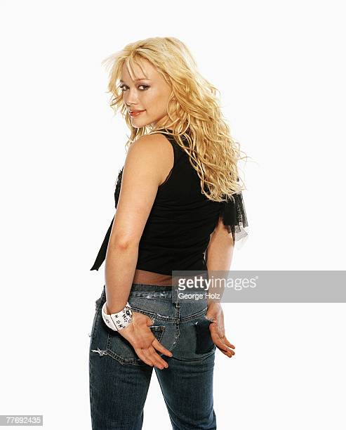 Actress Hilary Duff is photographed for Cosmo Girl Magazine on December 5 2003 at Loft Studios in Hollywood California PUBLISHED IMAGE