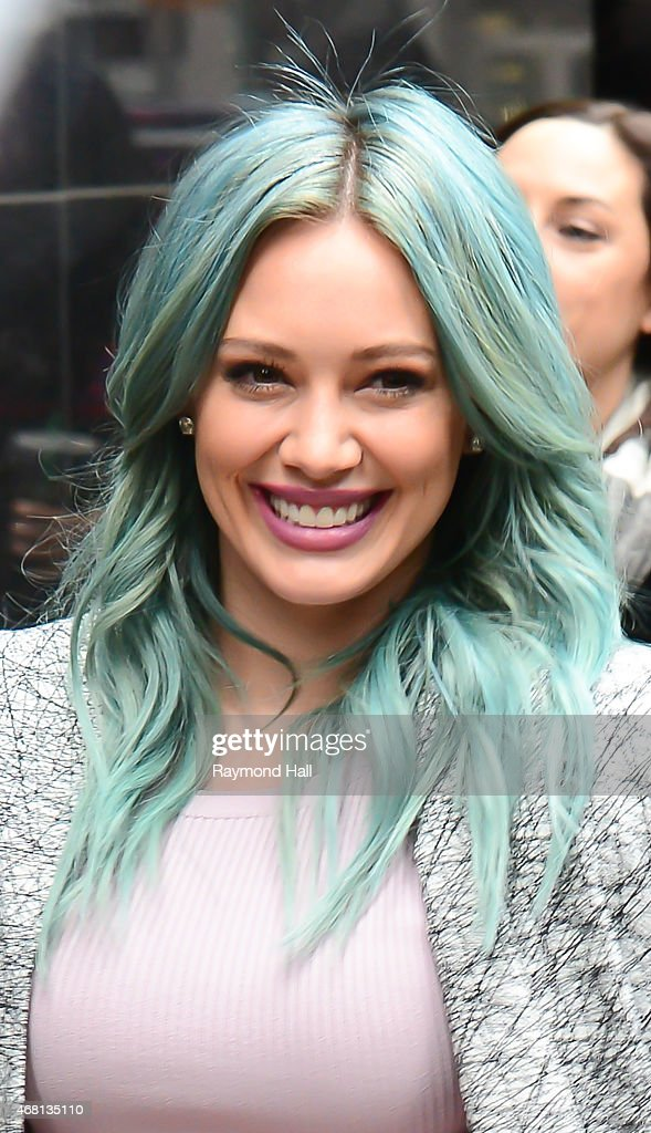Actress Hilary Duff is seen on 'Good Morning America' on March 30, 2015 in New York City.