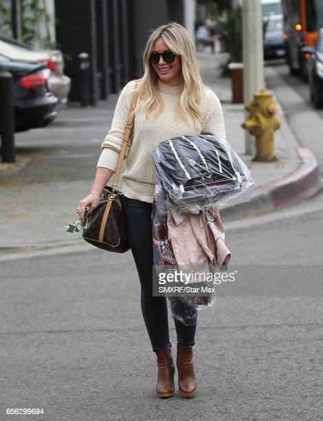 Actress Hilary Duff is seen on March 21 2017 in Los Angeles California