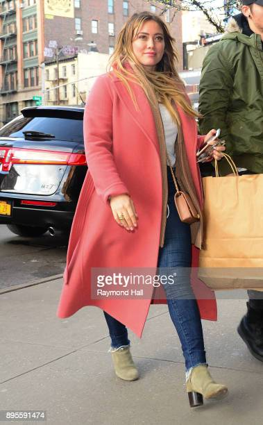 Actress Hilary Duff is seen walking in Soho on December 19 2017 in New York City