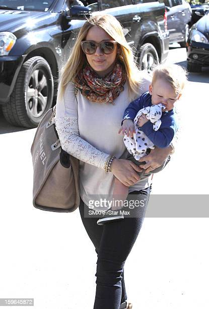 Actress Hilary Duff is sighted at The Grove on January 17 2013 in Los Angeles California