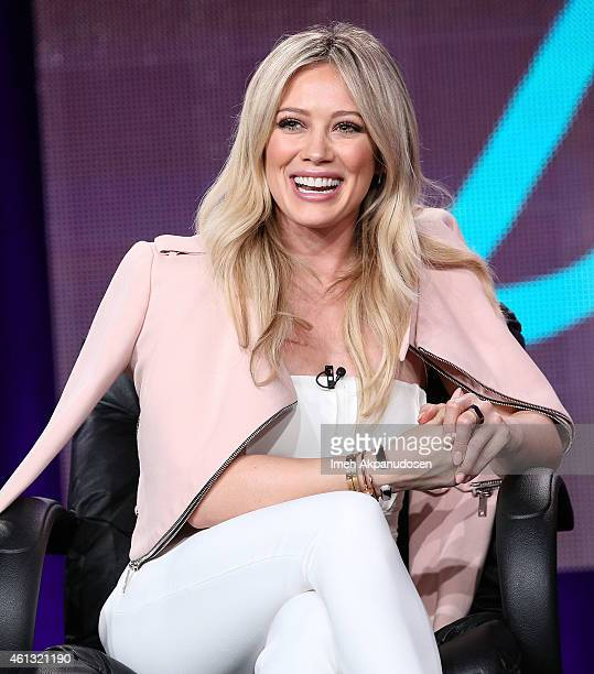 Actress Hilary Duff speaks onstage during the Viacom Winter Television Critics Association press tour at The Langham Huntington Hotel and Spa on...