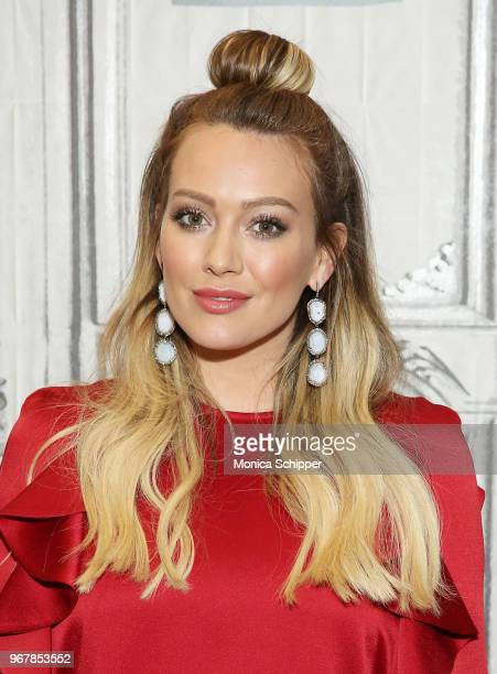 Actress Hilary Duff visits Build Studio to discuss the television show Younger on June 5 2018 in New York City