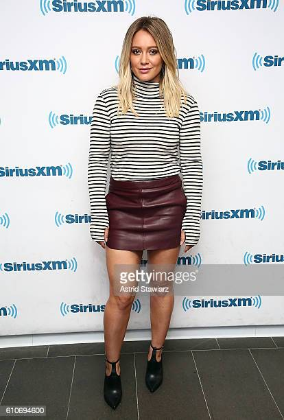 Actress Hilary Duff visits the SiriusXM Studios on September 27 2016 in New York City