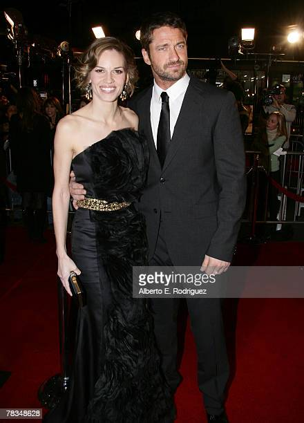 Actress Hilary Swank and actor Gerard Butler arrive at the premiere of Warner Bros' 'PS I Love You' held at Grauman's Chinese Theater on December 9...