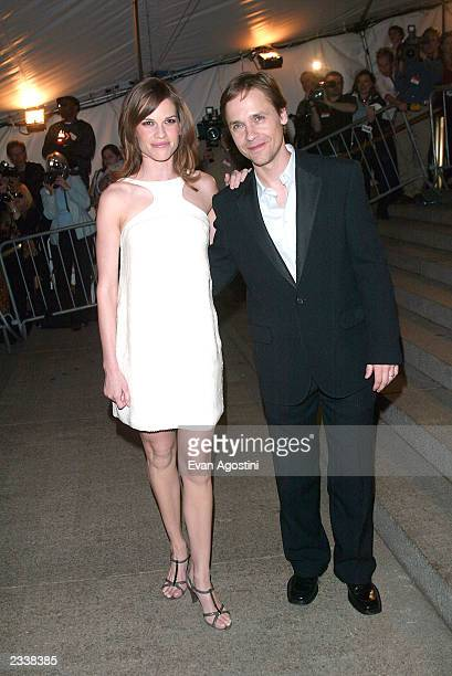 Actress Hilary Swank and husband actor Chad Lowe arrive at the Metropolitan Museum of Art Costume Institute Benefit Gala sponsored by Gucci April 28...