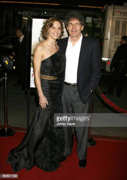 Actress Hilary Swank and President COO of Warner Brothers Entertainment Alan Horn arrive at the Premiere of 'PS I Love You' at Grauman's Chinese...