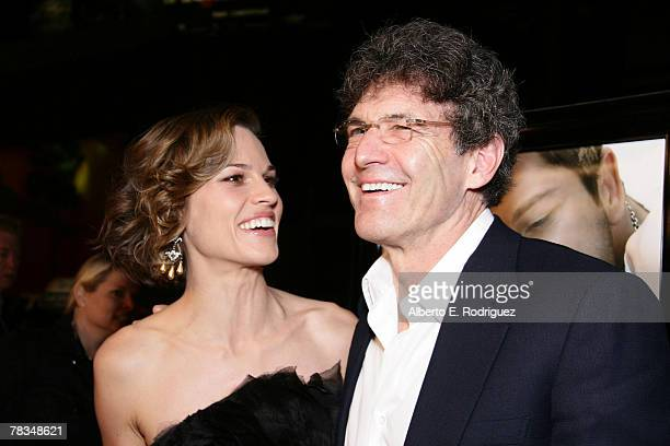 Actress Hilary Swank and Warner Bros president Alan Horn arrive at the premiere of Warner Bros' 'PS I Love You' held at Grauman's Chinese Theater on...