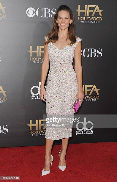 Actress Hilary Swank arrives at the 18th Annual Hollywood Film Awards at Hollywood Palladium on November 14, 2014 in Hollywood, California.
