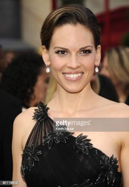 Actress Hilary Swank arrives at the 80th Annual Academy Awards at the Kodak Theatre on February 24 2008 in Hollywood
