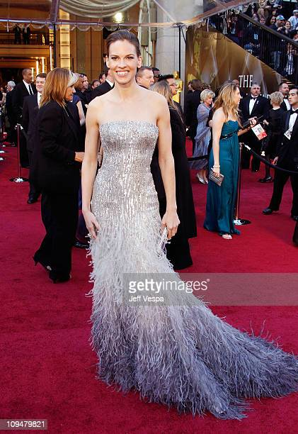 Actress Hilary Swank arrives at the 83rd Annual Academy Awards held at the Kodak Theatre on February 27 2011 in Hollywood California