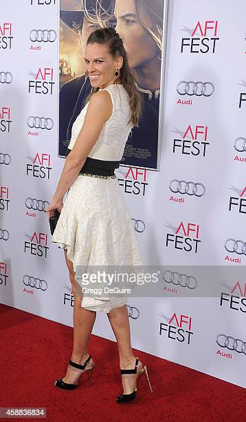 Actress Hilary Swank arrives at the AFI FEST 2014 Presented By Audi 'The Homesman' Premiere at Dolby Theatre on November 11 2014 in Hollywood...