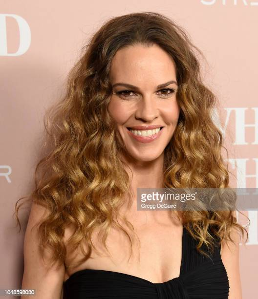 Actress Hilary Swank arrives at the Los Angeles Special Screening Of What They Had at iPic Westwood on October 9 2018 in Westwood California