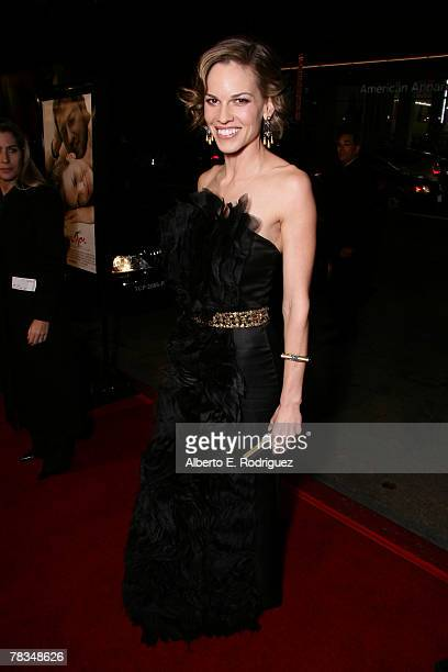 Actress Hilary Swank arrives at the premiere of Warner Bros' 'PS I Love You' held at Grauman's Chinese Theater on December 9 2007 in Los Angeles...